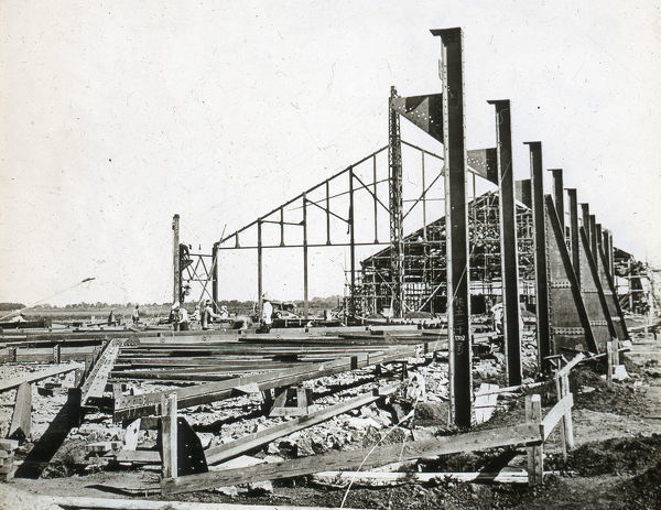 New Central Hangars under erection - Ground view