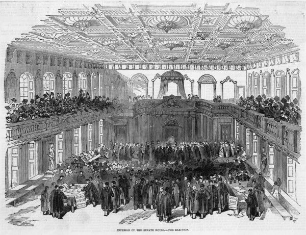 Interior of the Senate House, during the election for the Chancellor of the University
