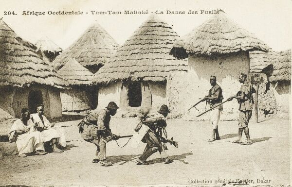 'The Dance of the Riflemen' at Tam Tam Malinke, Senegal
