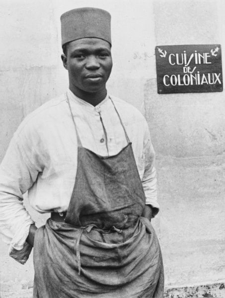 The Senegalese cook is in charge of preparing the national dishes for the Senegalese in the French Army during World War II