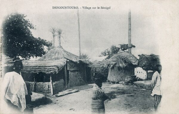 Diogountouro - A typical native village in Senegal, West Africa