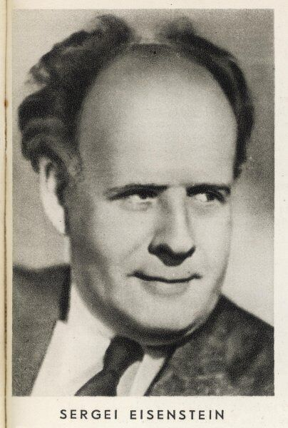 SERGEI EISENSTEIN Russian film director, noted for 'Cruiser Potemkin', 'Alexander Nevsky', 'Ivan the terrible' and several other masterpieces of early cinema