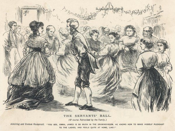 At the servants' ball, the elegant dancing of the footman is much admired
