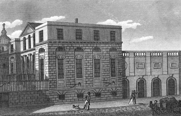 The Sessions House, Old Bailey. Date: circa 1800