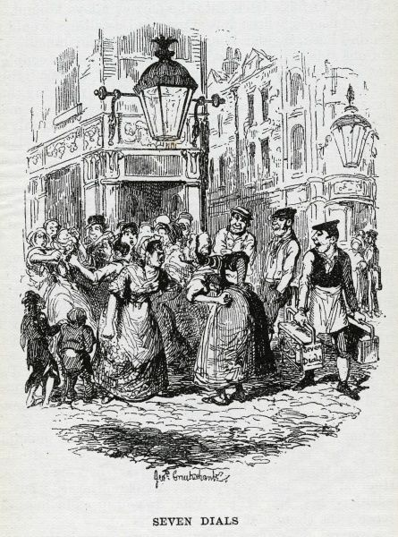 Social life in Seven Dials, London Date: 1836