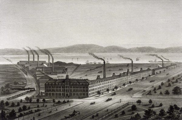 The Singer sewing machine factory at Elizabethport, New Jersey