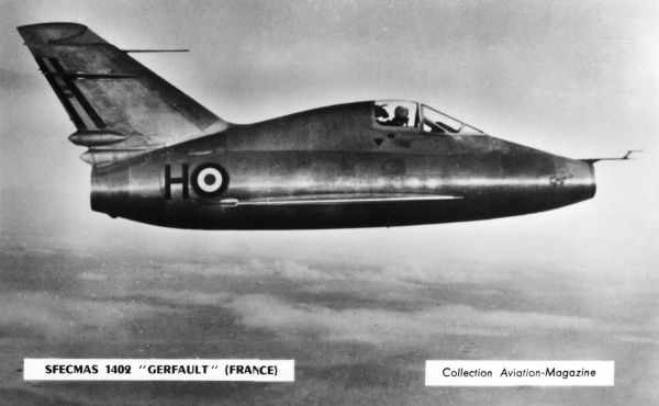 French jet fighter Date: circa 1950