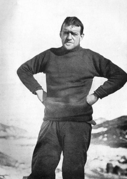 ERNEST SHACKLETON 'The leader of the expedition in winter garb.' Date: 1874 - 1922