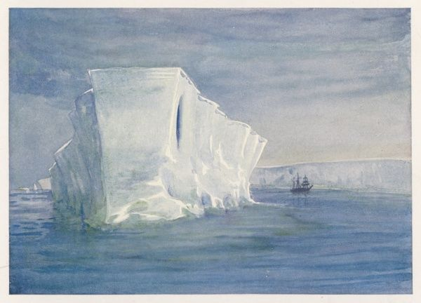 The Dreadnought. An iceberg encountered by Shackleton and his crew