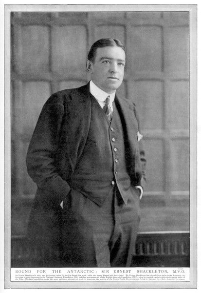 ERNEST SHACKLETON Irish Antartic explorer, photographed before his bid to cross the Antartic continent in 1914