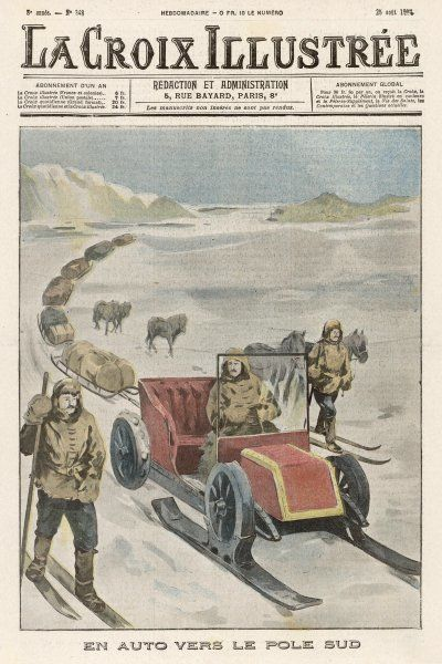 In his attempt on the South Pole, Shackleton plans to use this specially designed automobile, rather then dogs, to haul his supplies