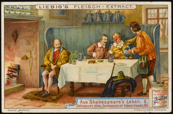 He dines for the last time with Ben Jonson and other friends