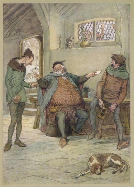 Act I, Scene iii Falstaff dispatches his billet-doux