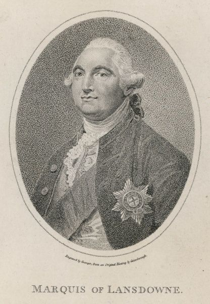 WILLIAM PETTY 2ND EARL OF SHELBURNE 1ST MARQUIS OF LANSDOWNE British politician