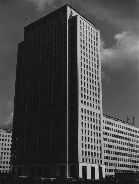 The Tower of the then new Shell Building, South Bank, London. Date: 1963