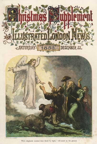 The Illustrated London News made its debut in coloured journalism on the 22nd December 1855 when the first series of coloured printed pictures appeared in its Christmas supplement