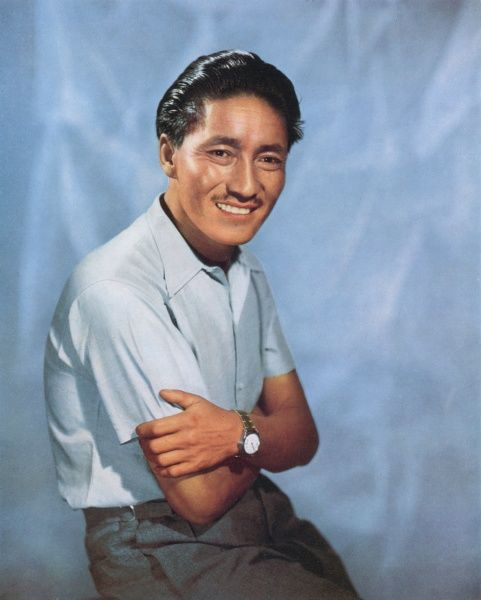 TENZING NORGAY (1914 - 1986), who, along with Sir Edmund Hillary, scaled the summit of Mount Everest on 29th May 1953. Date: 1953
