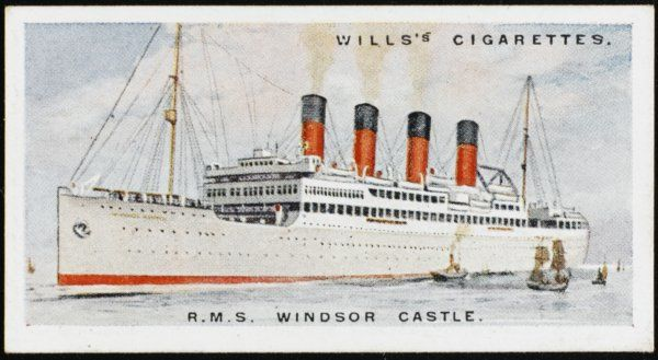 Union Castle liner on the South Africa run