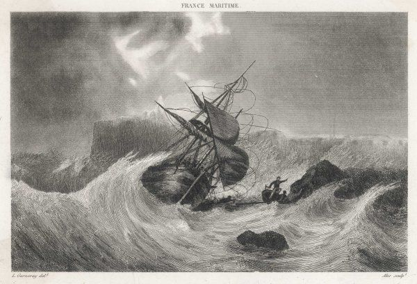 The wreck of Colbert's ship, Cherbourg