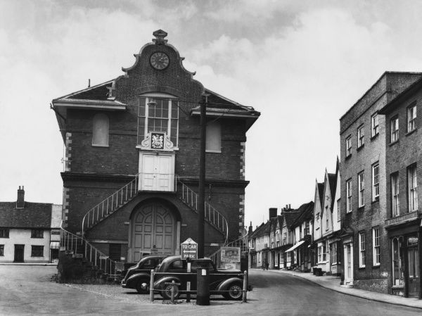 The Shire Hall in Woodbridge, Suffolk. Built during the reign of Elizabeth I and situated at the centre of the town