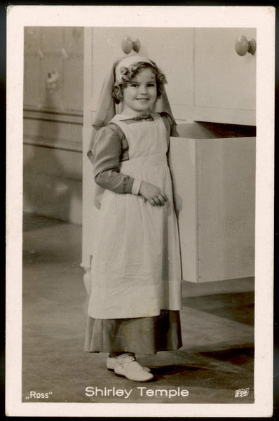 SHIRLEY TEMPLE American child star of the 1930s, dressed in nurse's uniform