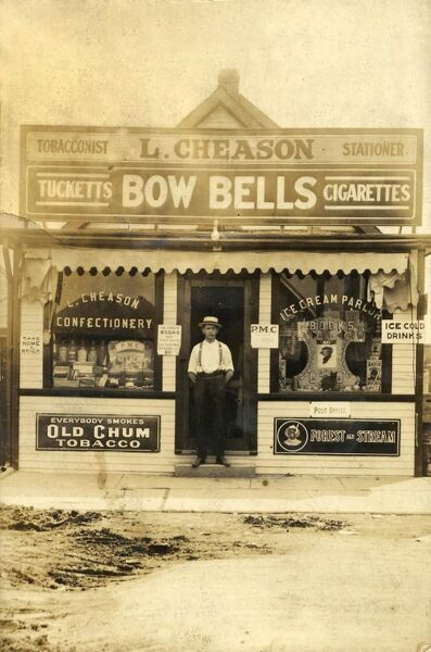 L. Cheason tobacconist and stationer shop in Canada 1920