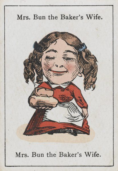 "Mrs Bun the Baker's Wife, from ""Happy Families"" devised in Britain by Mr Jacques in 1861"