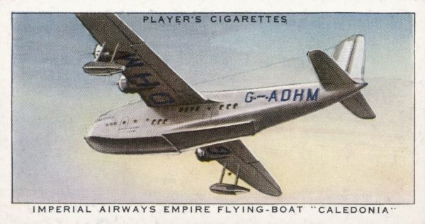 One of the new generation of monoplane flying boats which will replace the stately old biplanes, this will be used by Imperial Airways on long distance passenger routes