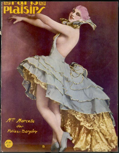 Mademoiselle Marcelle of the Folies Bergere, ready to dance the night away