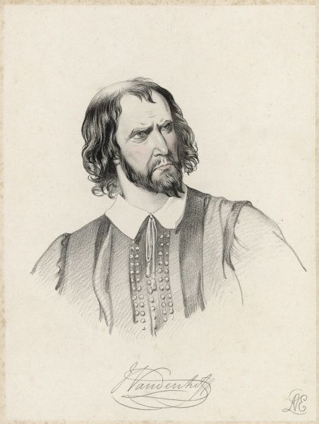 The actor George Vandenhoff (1820-1884) in the role of Shylock