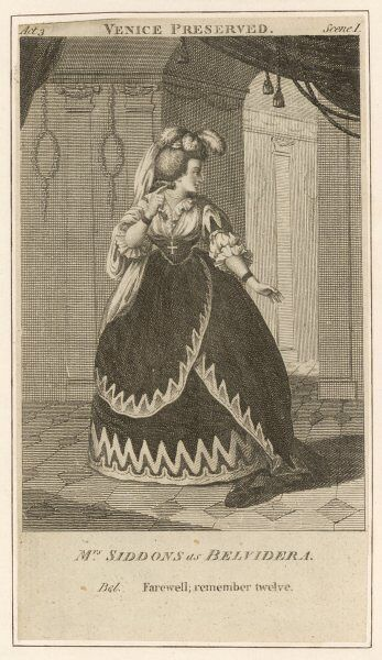 SARAH SIDDONS (nee Kemble) actress as Belvidera in Otway's 'Venice preserved&#39