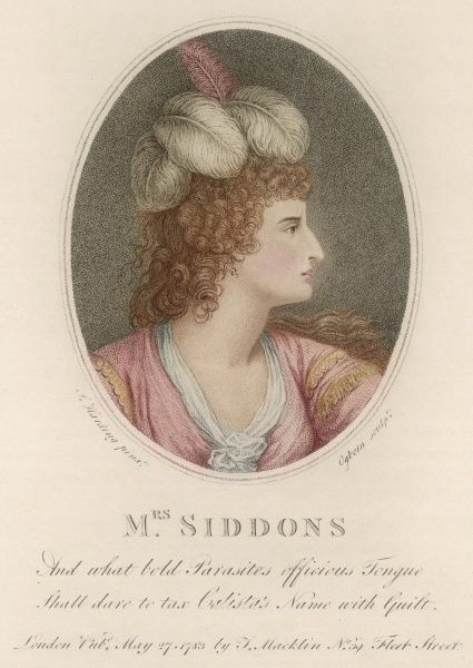 SARAH SIDDONS Actress in the role of Calista in Rowe's 'Fair Penitent&#39