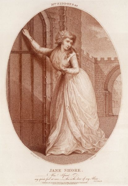 SARAH SIDDONS Actress in the role of Jane Shore