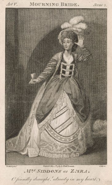 SARAH SIDDONS as Zara in Congreve's 'The mourning bride&#39