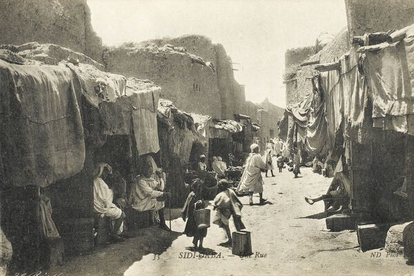 A street in Sidi Ukba (Okba) in the Biskra Province, Algeria. It was named after the Muslim General Uqba ibn Nafi who died there in 683 AD