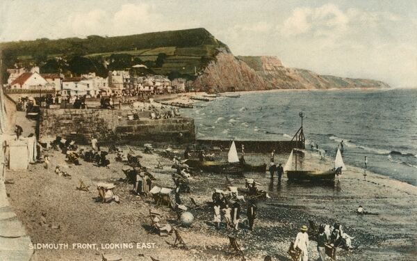 Sidmouth Front, Devon - looking East