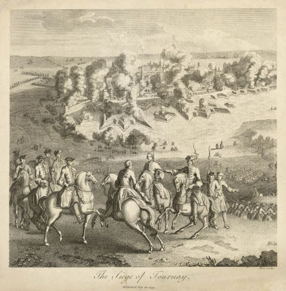 SIEGE OF TOURNAI - Marlborough attacks the town, bravely defended by de Surville : after 56 days it is forced to surrender