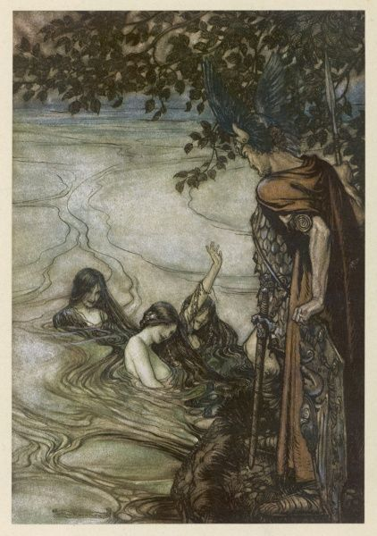 Act three : the Rhinemaidens beg Siegfried to return the Ring