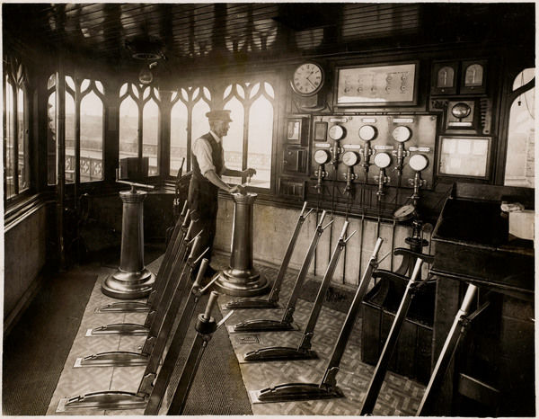 Inside the signal box at the London terminus of Blackfriars