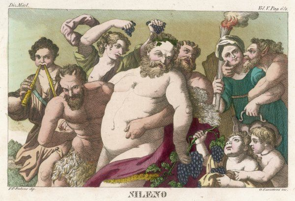 The nurse, attendant and drinking companion of Dionysos / Bacchus