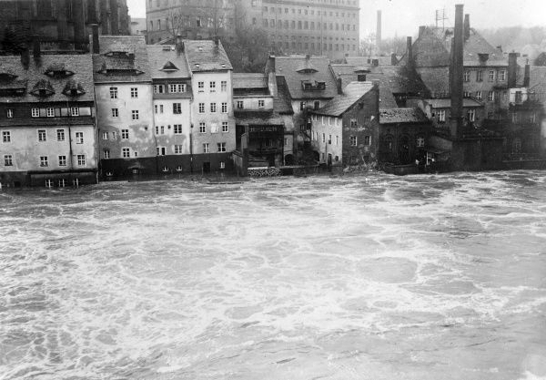 Floods in Silesia. Date: 1930s