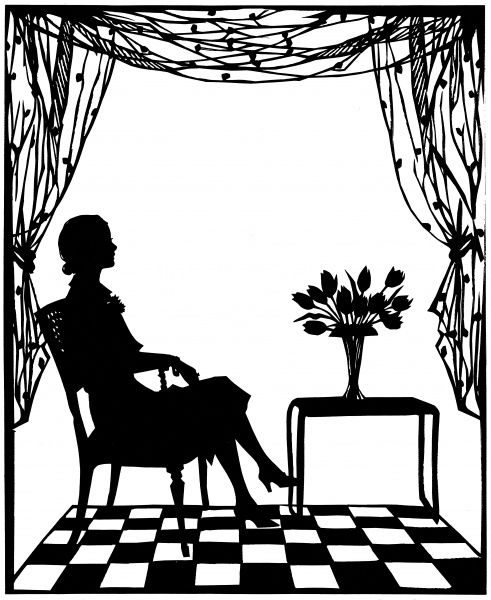Stunning silhouette of Mme. Lily Pons, the tiny French prima donna, who sang Rosina, the leading role in Rossini's 'Il Barbiere di Siviglia' at Covent Garden in May 1935, which was attended by their Royal Highnesses the Duke