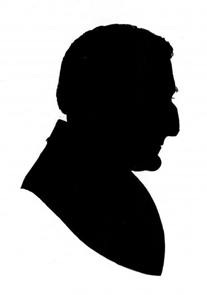 Silhouette portrait of Arthur Wellesley, Duke of Wellington (1769 - 1852), British general and statesman. Date: c.1830