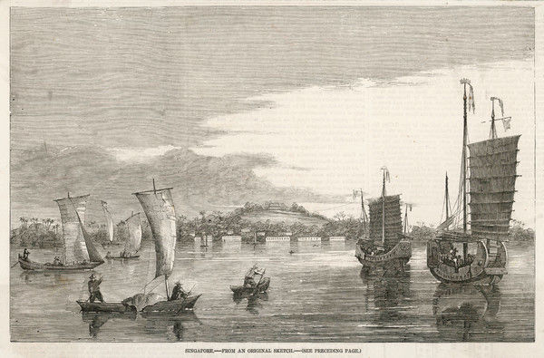 View of the harbour, with boats