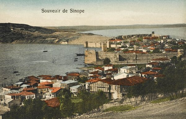 Sinop is a city Ince Burun (Cape Ince), by its Cape Sinop (Sinop Burnu, Boztepe Cape, Boztepe Burnu) which is situated on the most northern edge of the Turkish side of Black Sea coast, in the ancient region of Paphlagonia, in modern-day northern Turkey