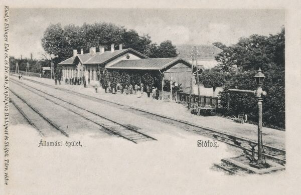 The main railway station at Siofok, Hungary, on the southern bank of Lake Balaton in Somogy County