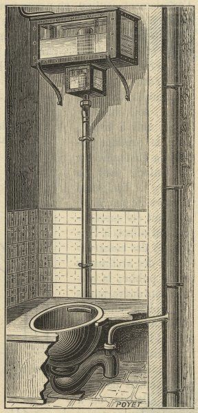 French water closet with siphon flushing
