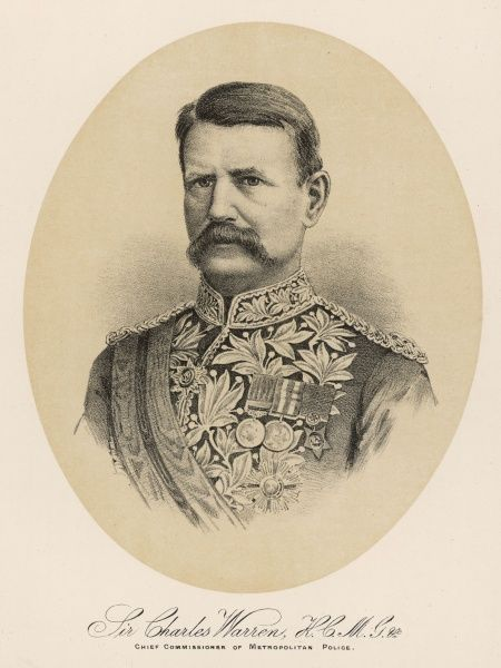 SIR CHARLES WARREN British army commander and soldier, police commissioner and archaeologist