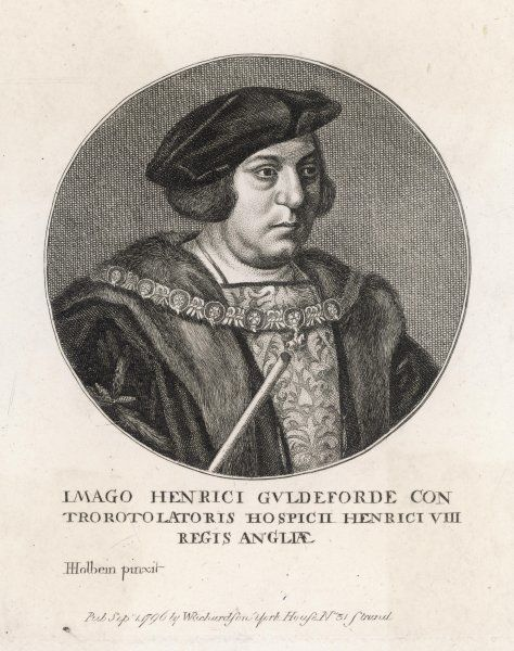 SIR HENRY GUILDFORD Master of the horse and Controller of the household. Accompanied Henry VIII to the Field of the Cloth of Gold