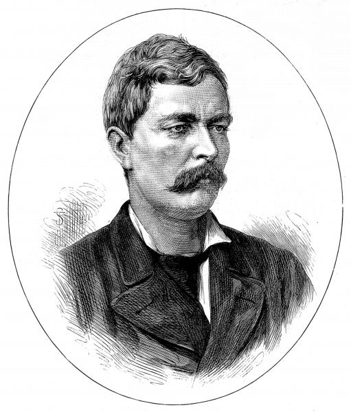 Engraving of Sir Henry Morton Stanley, the British-US explorer and journalist, pictured in 1878
